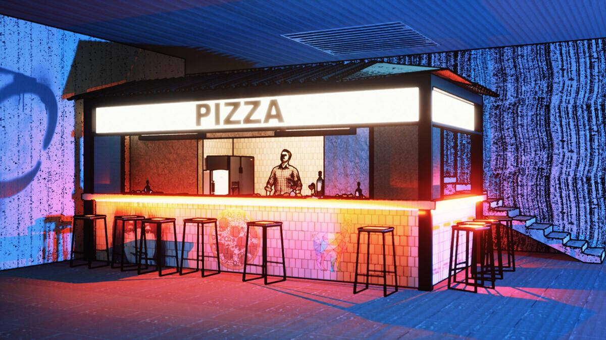 Wibar Pizza Bar ontwerp
